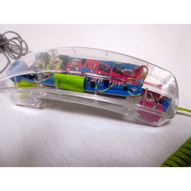 Lucite Mod Retro Telephone Phone - Image 5 of 7