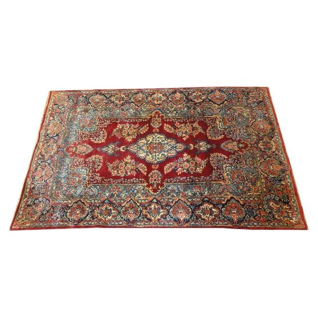 "Vintage Persian Lavar Kerman Rug - 4'8"" x 7'5"" For Sale"