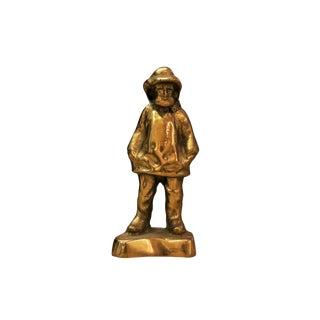 Cast Brass Fisherman For Sale