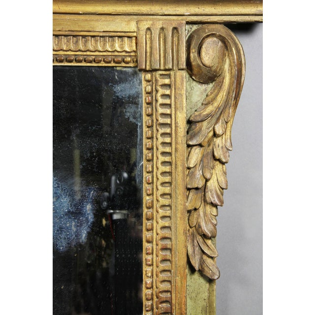 Louis XVI Giltwood and Green Painted Mirror For Sale - Image 4 of 7