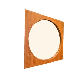 Cerused Wood Square Wall Mirror For Sale