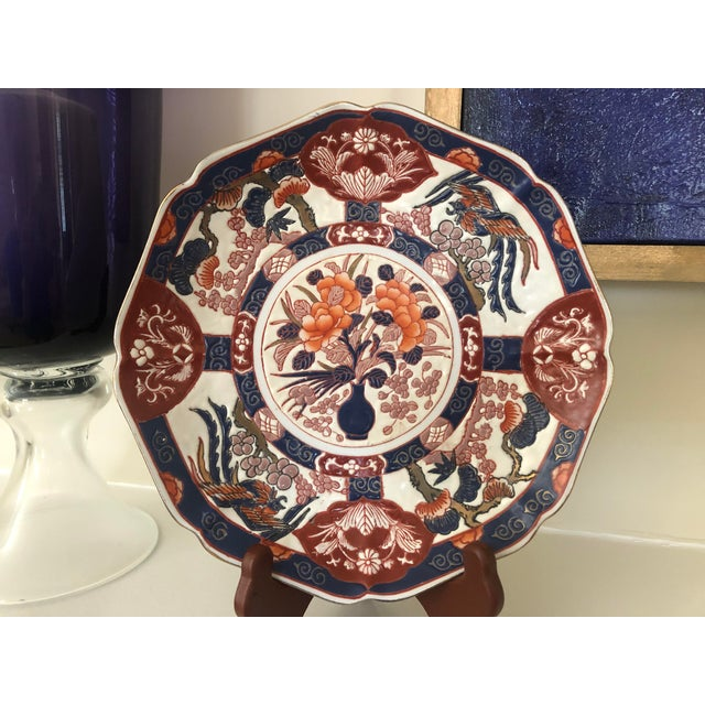 Andrea by Sadek Chinoiserie Purple Plate For Sale - Image 6 of 8