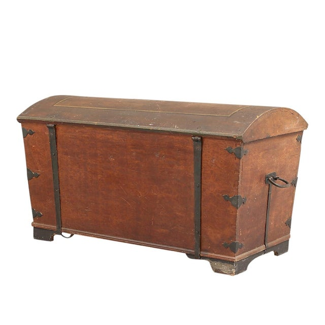 Mid 19th Century Antique Swedish Painted Chest, 1845 For Sale - Image 5 of 10