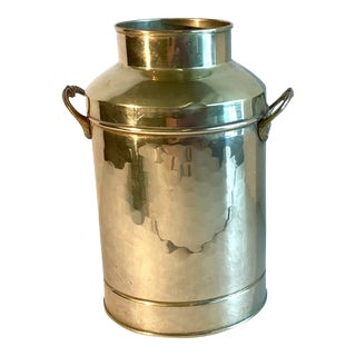 20th Century Country Brass Milk Can For Sale