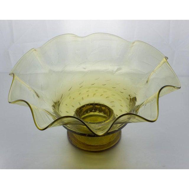 Ruffled Shape Blenko Bowl - Image 8 of 10
