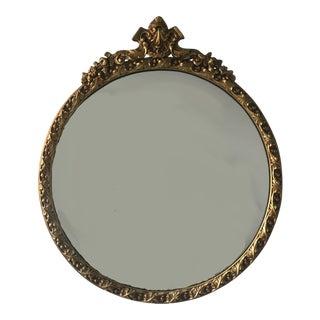 Vintage Round Gilt Mirror