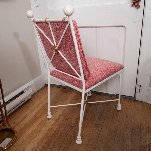 1970s Painted Metal Dining Chairs - Set of 6 For Sale - Image 5 of 12