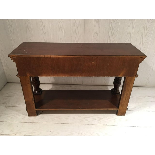 Traditional Wood Sofa Table - Image 5 of 8