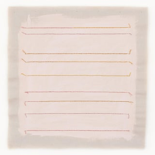 "Pale Pink Stripe 16"" Fine Art Print by Emily Keating Snyder For Sale"