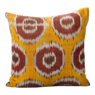 "Dotte Ikat Pillow - 18x18"" For Sale"