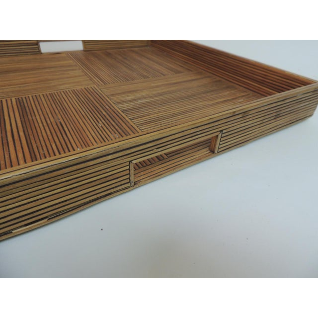 Large Square Bamboo Serving Tray - Image 6 of 6