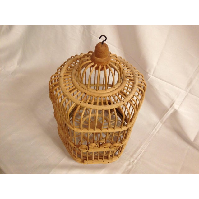 Vintage Bamboo Bird Cage - Image 4 of 6