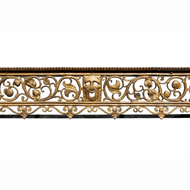 Oscar Bach Oscar Bach Bronze and Wrought Iron Console Table For Sale - Image 4 of 10