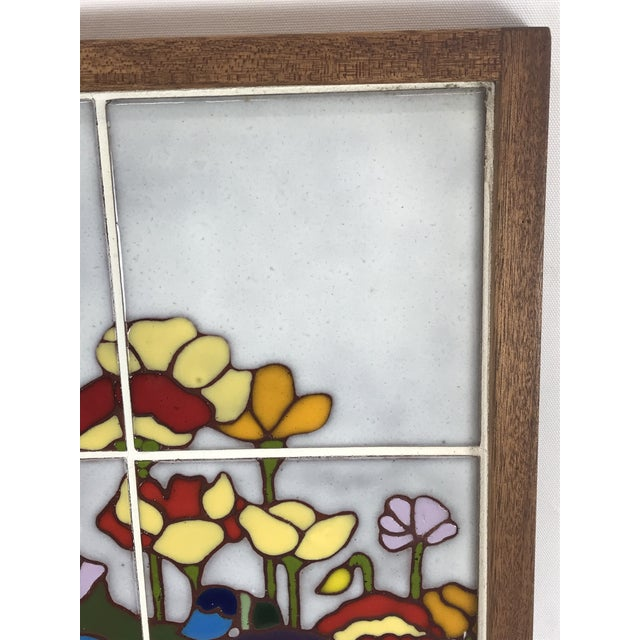 20th Century Art Nouveau Tile Artwork in Wood Frame by Roberta Goodman For Sale In Los Angeles - Image 6 of 13