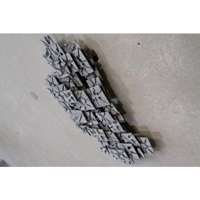 Aluminum Brutalist Wall Art Piece - Image 3 of 4