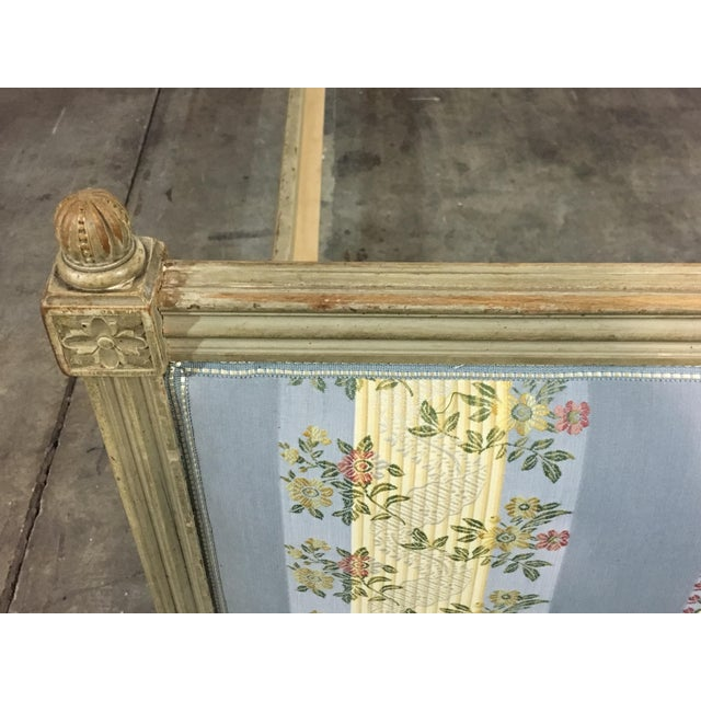 20th Century French Style Upholstered King Bedframe For Sale In West Palm - Image 6 of 10