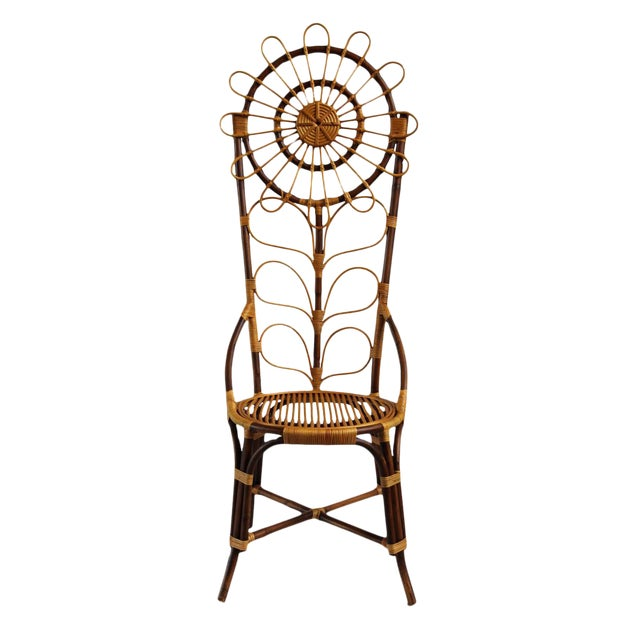 Tall Bamboo Sun Flower Chair - Image 8 of 8