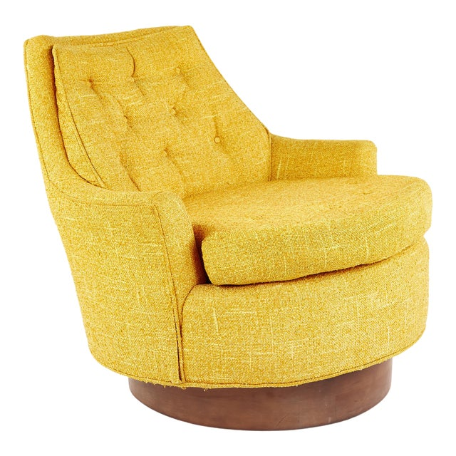 Adrian Pearsall Style Mid Century Swivel Lounge Chair For Sale