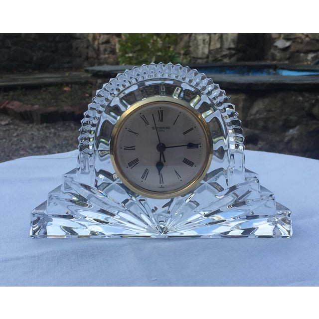 Waterford crystal, battery-operated Cottage Clock. With original box