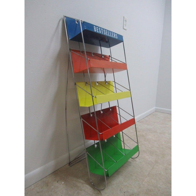 Vintage Chrome Multicolor Book Rack - Image 10 of 11