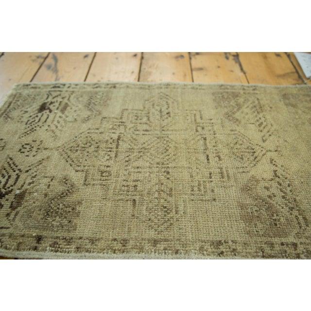 "Vintage Oushak Rug Mat - 1'6"" x 2'5"" - Image 3 of 4"