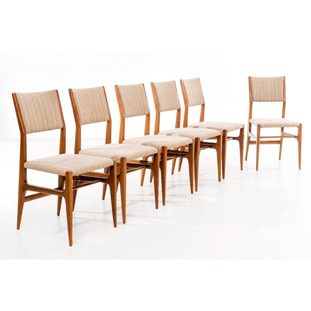 Mid-Century Modern Set of 6 Gio Ponti Dining Chairs For Sale - Image 3 of 10