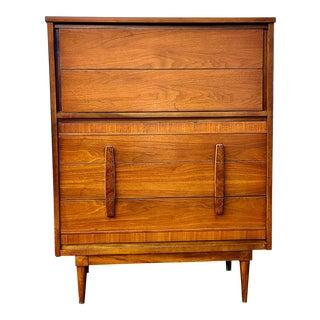 1960s Mid Century Modern Highboy Dresser For Sale