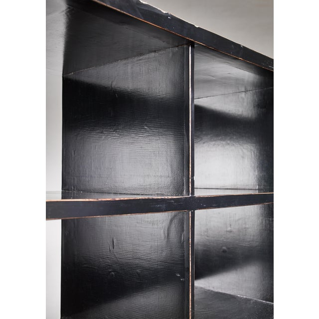 Black Lacquered Wood Bookcase, Dutch, 1930s For Sale - Image 6 of 7