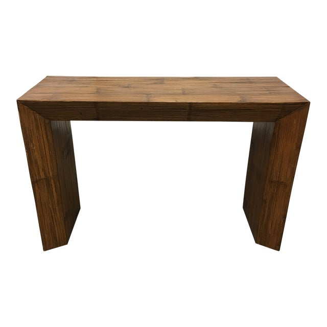 Hand Paneled Bamboo Console Table - Image 1 of 9