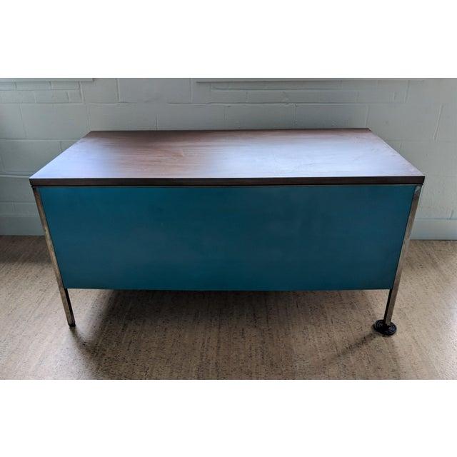 1960s Teal Steelcase Tanker Desk For Sale - Image 5 of 9