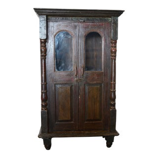 Vintage Wooden Painted Cabinet For Sale