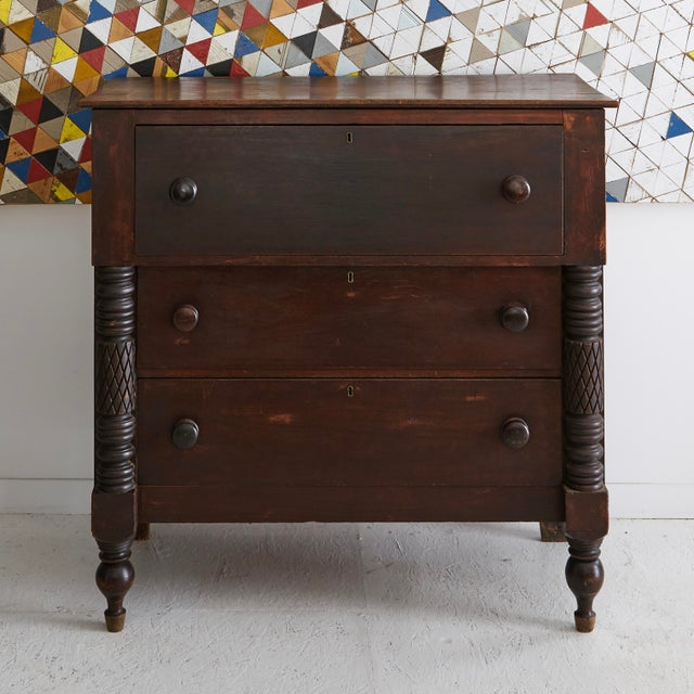 Late 19th Century 19th Century Carved Mahogany Butler's Desk For Sale - Image 5 of 5