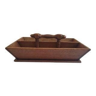 19th Century Walnut Cutlery Box For Sale