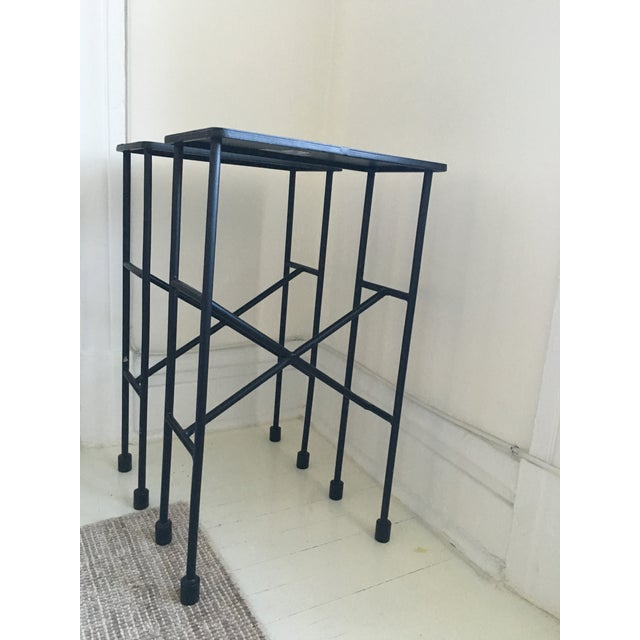 Pottery Barn Zane Accent Tables - A Pair - Image 8 of 9