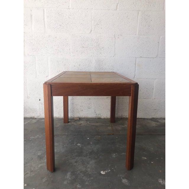 Vintage Mid Century Danish Modern Tile Top Side Table by Uldum Moblerfabrik Denmark For Sale - Image 9 of 13