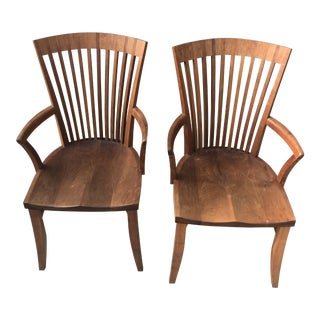 Thos. Moser Hawthorne Arm Chairs- A Pair For Sale