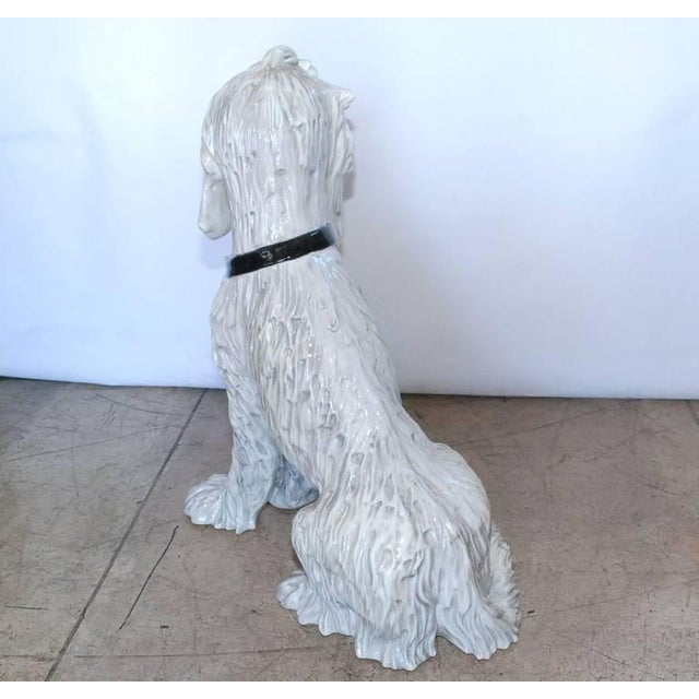 Vintage Italian Ceramic Dog Sculpture For Sale - Image 4 of 10