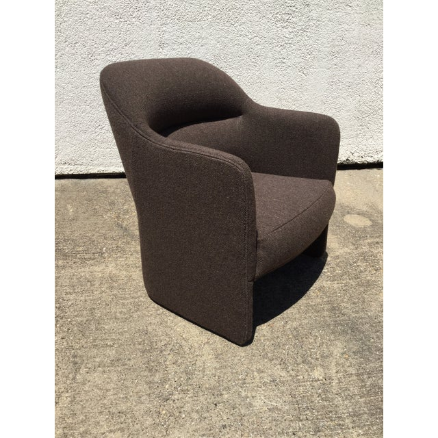 Brown 1980s Vintage Milo Baughman for Thayer Coggin Barrel Back Tub Accent Chairs- A Pair For Sale - Image 8 of 12