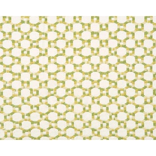 Hinson for the House of Scalamandre Island Trellis Fabric in Green For Sale