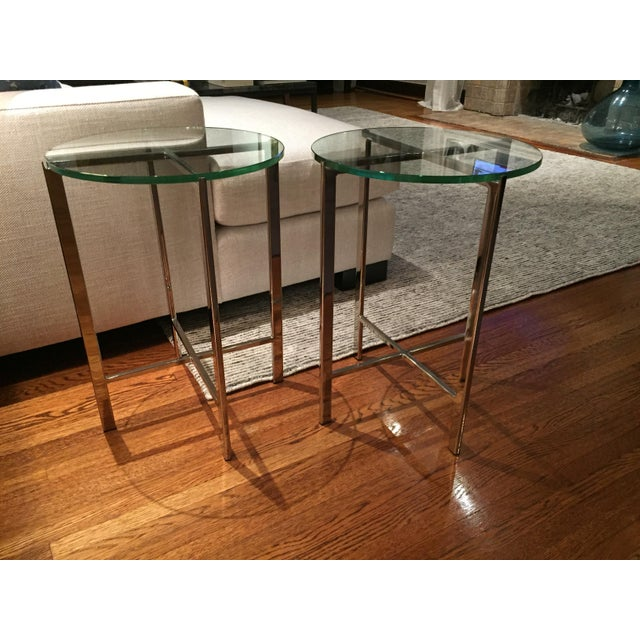 HD Buttercup Chrome & Glass Side Table - A Pair - Image 3 of 6