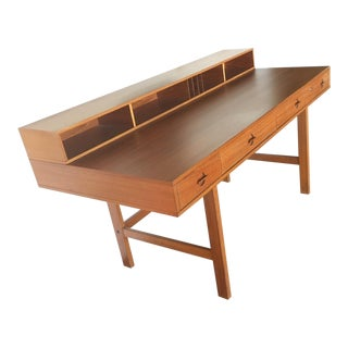 1960s Mid-Century Modern Peter Lovig Nielsen & Jens Quistgaard Flip-Top Desk For Sale