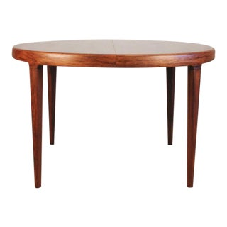 Vintage Danish Rosewood Round Dining Table by Johannes Andersen