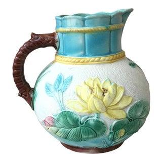 Victorian Majolica Water Lily, circa 1890 For Sale