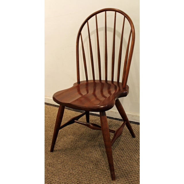 Contemporary Contemporary Duckloe Bros Cherry Hoop-Back Windsor Side Dining Chair For Sale - Image 3 of 11