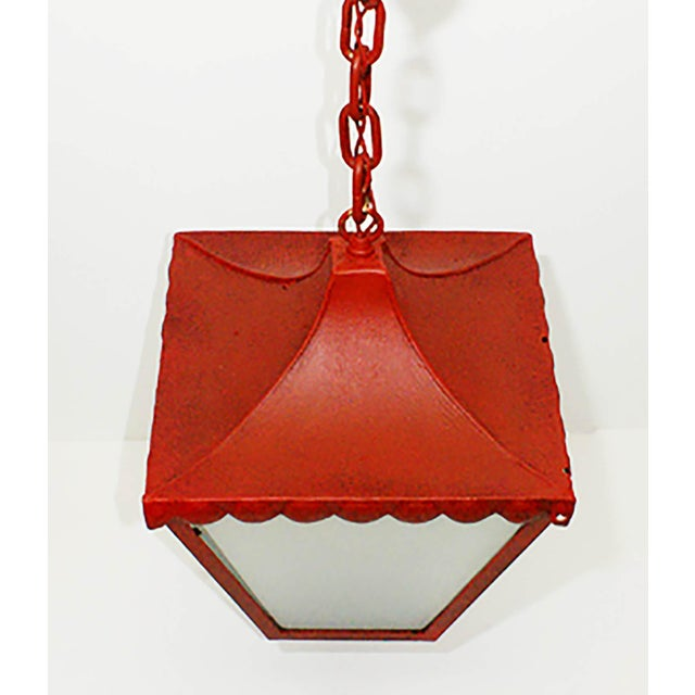 Regency 1900s Regency Style Red Pendant Light For Sale - Image 3 of 4