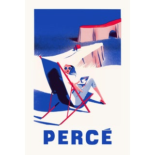 2019 Contemporary Travel Poster - Pascal Blanchet - Perce For Sale
