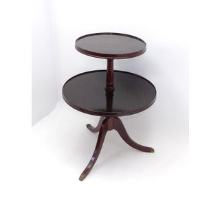 1945 Mid Century Modern Duncan Phyfe 2 Tiered Round Side Table Preview