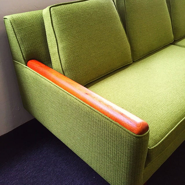 Adrian Pearsall Green Sofa For Sale - Image 7 of 9