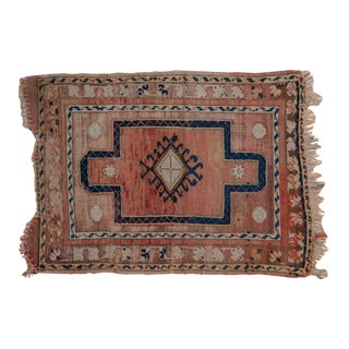 """Vintage Distressed Anatolian Square Rug - 2'4"""" X 3'2"""" For Sale"""