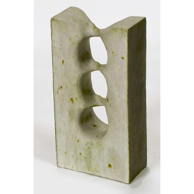Mid-Century Modern 1967 Double-Sided Abstract Ceramic Sculpture by Tomiya Matsuda (1939-2011) For Sale - Image 3 of 7